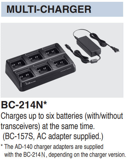 Icom PTT Radio battery chargers