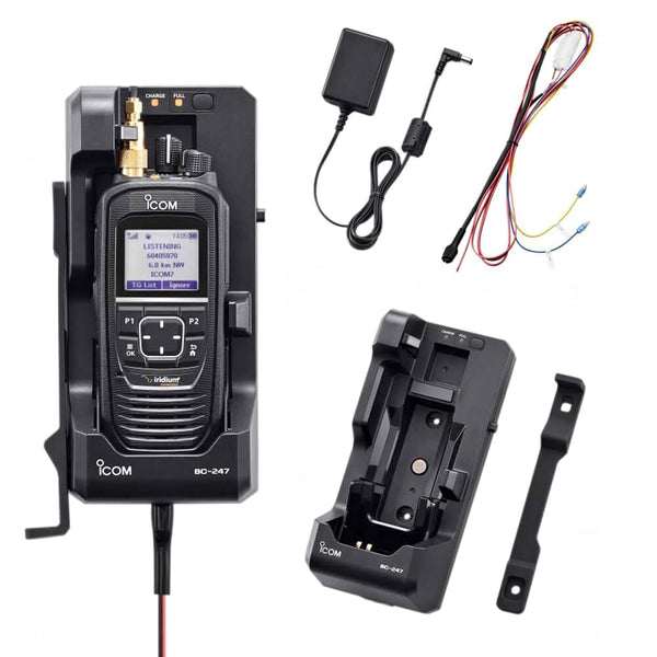 Icom BC-247 docking station for the IC-SAT 100 Global Iridium satellite radio