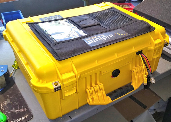 custom cable entry system into a pelican hard case