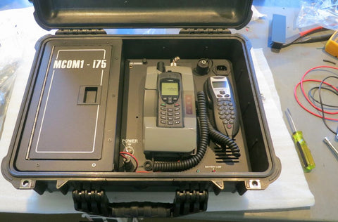 MCOM1 i75 Iridium Flyaway kit with ASE DK075 Docking Station