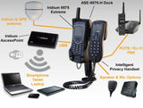Iridium Docking Station ASE-9575P-H for the 9575 Extreme with POTS includes Intelligent Privacy Handset