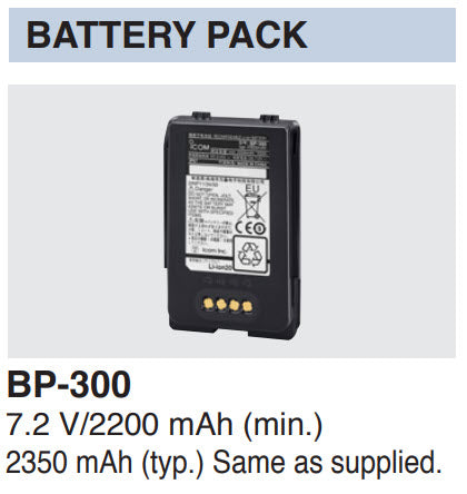 Icom BP-300 Battery for IC-SAT100 PTT Radio