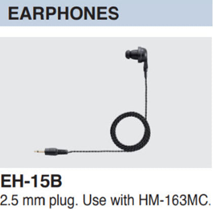 Icom EH-15B earphone 2.5 mm plug