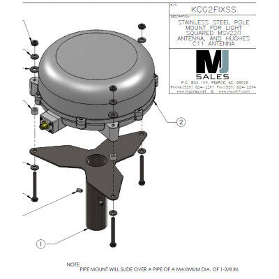MSAT G2 antenna pole mount