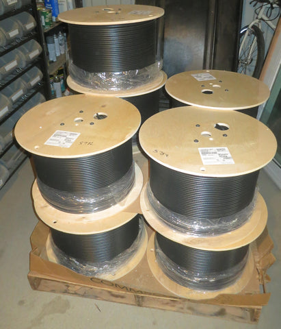 Dual RG6 bare copper 3Ghz, quad shield Commscope 1000 Foot Spool