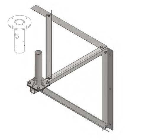 Iridium Pilot Pole Mount and Heavy Duty Wall Mount 'Combo'