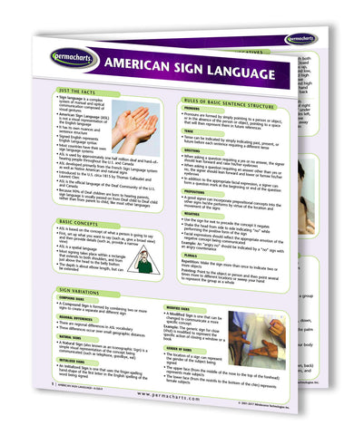 ASL Chart front