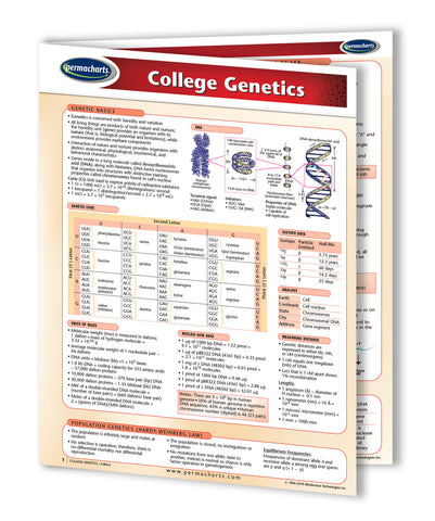 College Genetics reference guide