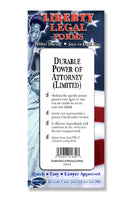 Durable Power of Attorney (Limited) USA- Do-it-Yourself Legal Forms by Permacharts