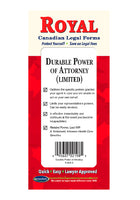 Durable Power of Attorney (Limited) CANADIAN - Do-it-Yourself Legal Forms by Permacharts