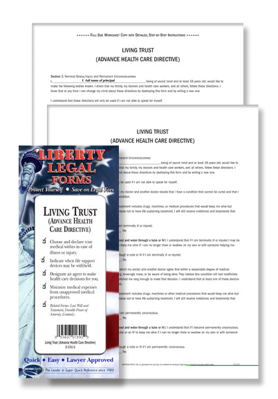 Living Will - Last Will And Testament Legal Forms Planning Kit