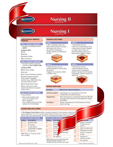 Nursing I & II -  2 Medical Pocket Chart Bundle