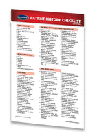 Medicine & Anatomy - Patient History Checklist (Pocket Size)