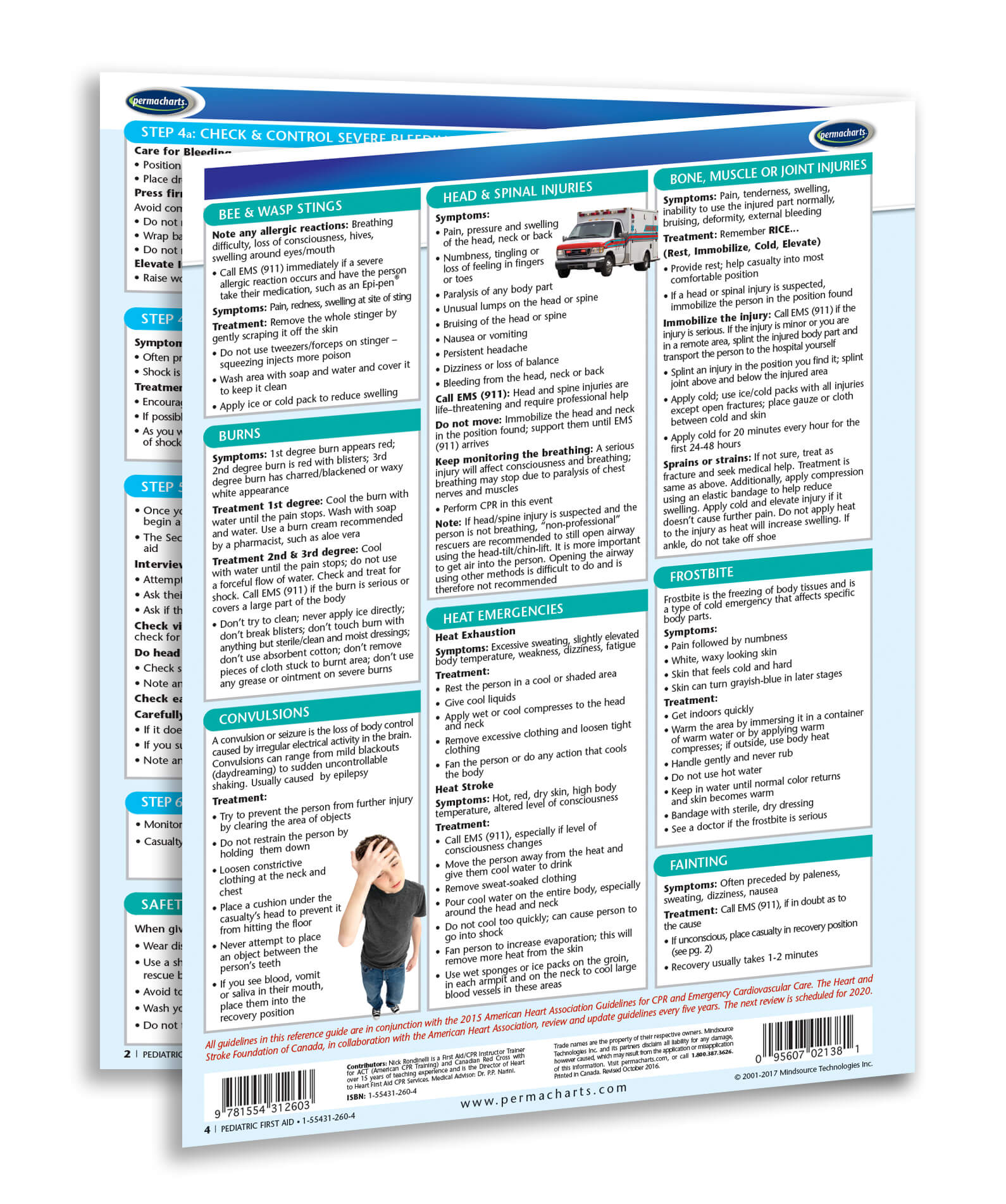 Pediatric First Aid Chart - Quick Reference Guide for Nurses