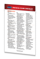 Medicine & Anatomy - Physical Exam Checklist (Pocket Size)