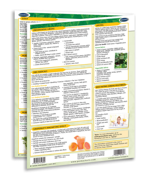 Natural Home Remedies Guide Quick Reference Chart