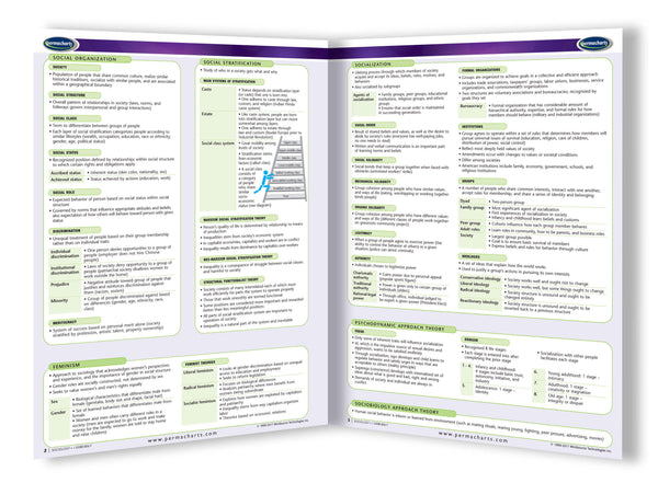 Sociology Study Guide Quick Reference Resource border=