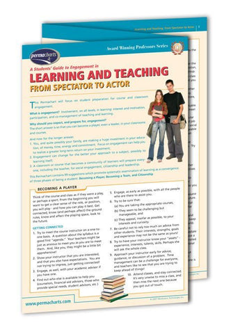 Award Winning Professors Series - Learning And Teaching From Spectator To Actor