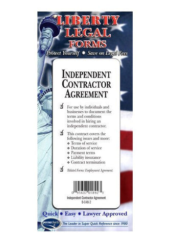 Legal Form - Independent Contractor's Agreement - USA