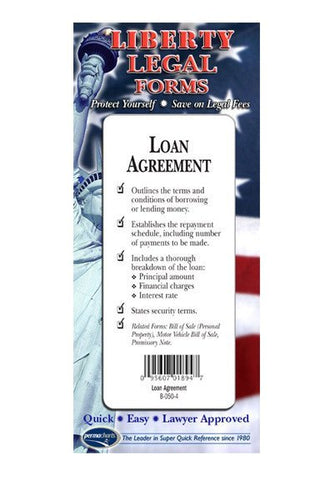 Legal Form - Loan Agreement - USA