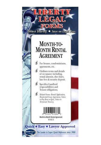 Legal Form - Month-to-Month Rental Agreement - USA