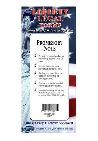 Legal Form - Promissory Note - USA