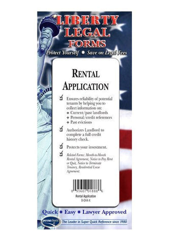Legal Form - Rental Application - USA