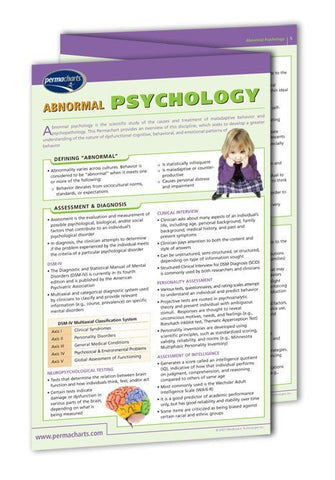 Abnormal Psychology guide: Permacharts