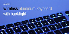 Matias Wireless Aluminum Backlit Keyboard