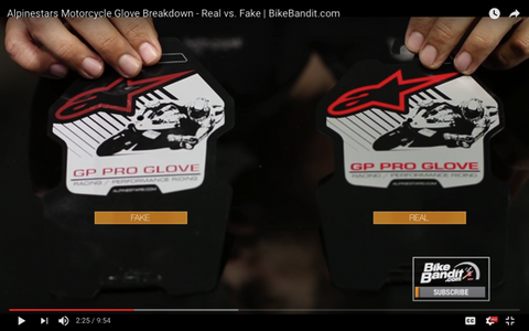 Alpinestars Motorcycle Glove Breakdown