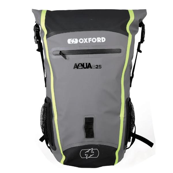 Oxford Aqua B-25 Backpack - Black Grey Fluo