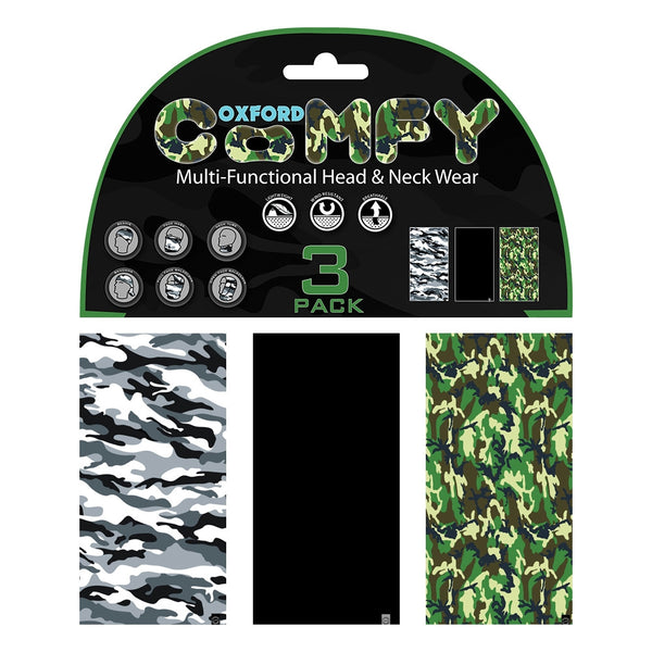 Oxford Comfy Camouflage 3 Pack