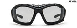 Bertoni Rubber Black/Smoke Sunglasses-AF366A