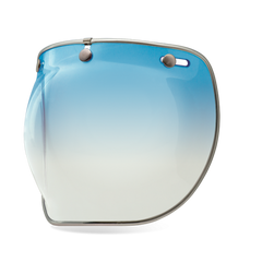 Bell 3 Snap Bubble Deluxe Shield - Ice Blue