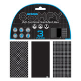 Oxford Comfy Black & White Tartan 3-Pack