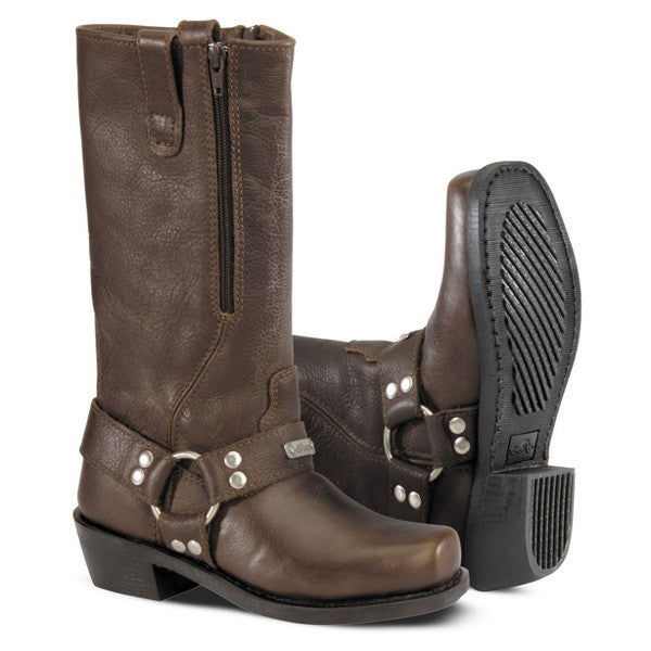 River Road Square Toe Zip Harness Boots