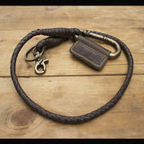 Trip Machine Braided Key Chain - Tobacco Brown