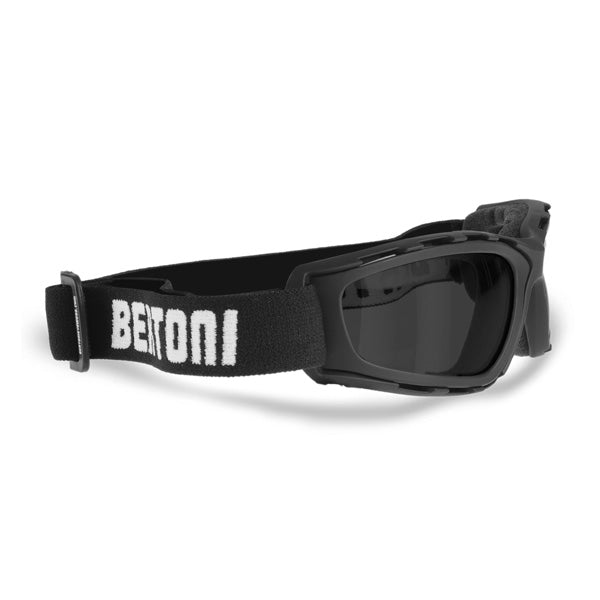 Bertoni Motorcycle Goggles with Interchangeable Lenses-AF120B