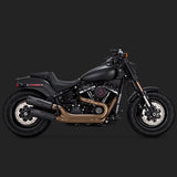 Vance & Hines Exhausts - Hi-Output Slip-ons - 2018 Softail Fatbob
