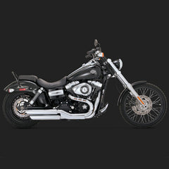 "Vance & Hines Twin Slash 3"" Slip-ons - Dyna Fat Bob"