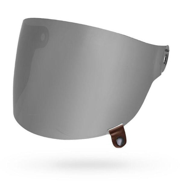 Bell Shield Bullitt Flat, Brown Tab - Silver Iridium