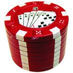 Poker Chip 3 Piece Metal Grinder