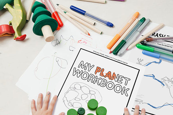 Sustainability workbook with eco activities for kids
