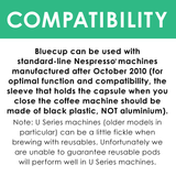 Bluecup Nespresso compatible: Works with all models made after 2010