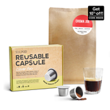 Nespresso® Compatible Reusable Coffee Pod Bundle | Sealpod 2pk + Bespoke Coffee Blend | promo code inside