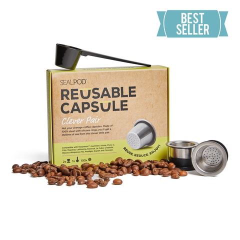 Best Seller: SealPod Nespresso® compatible reusable coffee pods 2 pack