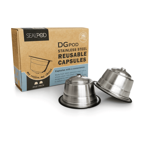 DGpod by Sealpod Refillable Coffee Capsules for Dolce Gusto® Two Pack