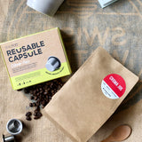 SealPod & Moka Pot ground coffee bundle | Nespresso compatible reusable steel capsule