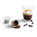 SealPod stainless steel nespresso compatible capsules with espresso