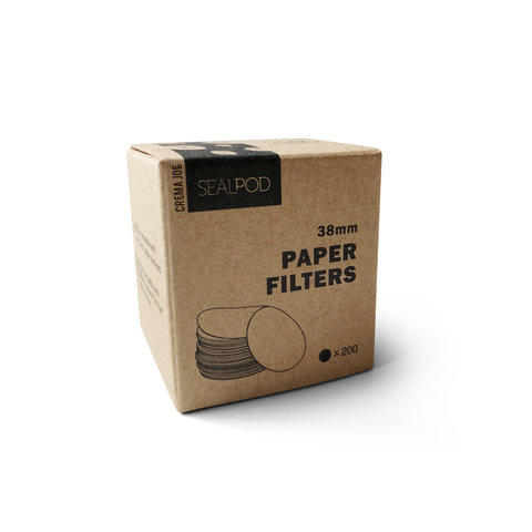 SealPod compostable paper filters for reusable coffee pods / capsules